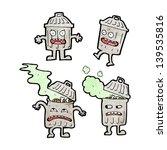 cartoon garbage can cartoon... | Shutterstock . vector #139535816