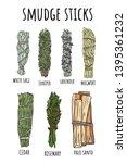 sage smudge sticks hand drawn... | Shutterstock .eps vector #1395361232