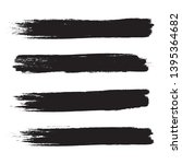 brush stroke set isolated on... | Shutterstock .eps vector #1395364682