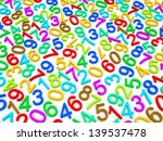 background of numbers. from... | Shutterstock . vector #139537478