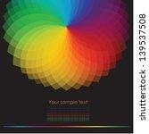 Color Wheel Background. Vector...