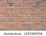old obsolete red brick wall... | Shutterstock . vector #1395389558