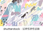 abstract collage background... | Shutterstock .eps vector #1395395108