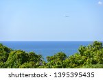 stunning view of an airplane... | Shutterstock . vector #1395395435