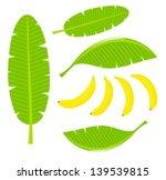 banana leaves and fruits.... | Shutterstock .eps vector #139539815
