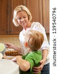 caucasian blonde mother and red ... | Shutterstock . vector #139540796
