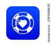 casino chips icon blue vector... | Shutterstock .eps vector #1395408635