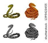 vector illustration of mammal... | Shutterstock .eps vector #1395423455