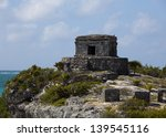 Tulum God of the Winds Temple Mexico - stock photo