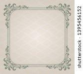 decorative frame in vintage... | Shutterstock .eps vector #1395456152