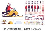 hiking winter man creation set  ... | Shutterstock .eps vector #1395464108