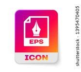 white eps file document icon.... | Shutterstock .eps vector #1395470405