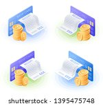 the credit card  online bill... | Shutterstock .eps vector #1395475748