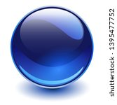 Glass Sphere Blue  Vector Shin...