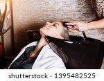 closeup of a female hairdresser ... | Shutterstock . vector #1395482525