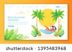 concept of landing page on... | Shutterstock .eps vector #1395483968