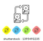 grey a fixed data storage... | Shutterstock .eps vector #1395493235