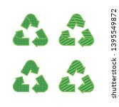 set of recycling signs. icons... | Shutterstock .eps vector #1395549872