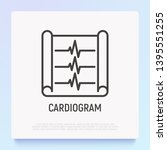cardiogram thin line icon.... | Shutterstock .eps vector #1395551255