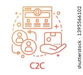 c2c concept icon. commercial... | Shutterstock .eps vector #1395566102