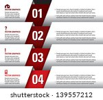 modern vector numbered banners. ... | Shutterstock .eps vector #139557212