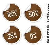 full sugar  half sugar  quarter ...   Shutterstock .eps vector #1395589322