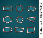 retro banner signs set template ... | Shutterstock .eps vector #1395592835