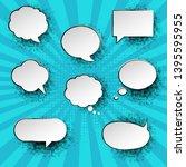 mint vintage speech bubble with ...   Shutterstock .eps vector #1395595955