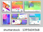 modern abstract covers set.... | Shutterstock .eps vector #1395604568