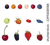 vector set of cartoon berries....   Shutterstock .eps vector #1395608588