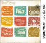 vintage summer labels | Shutterstock .eps vector #139561502