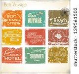 vintage summer labels   Shutterstock .eps vector #139561502