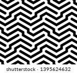 seamless geometric monochrome...   Shutterstock .eps vector #1395624632