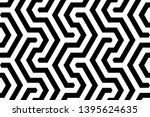 seamless geometric monochrome...   Shutterstock .eps vector #1395624635