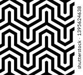 seamless geometric monochrome...   Shutterstock .eps vector #1395624638