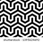 seamless geometric monochrome... | Shutterstock .eps vector #1395624692