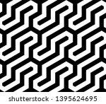 seamless geometric monochrome... | Shutterstock .eps vector #1395624695