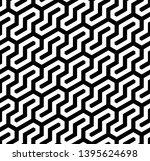 seamless geometric monochrome... | Shutterstock .eps vector #1395624698