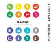 16 cleaning vector icons set...   Shutterstock .eps vector #1395625145