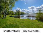 recreation camping area by the... | Shutterstock . vector #1395626888