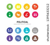 16 political vector icons set... | Shutterstock .eps vector #1395633212