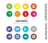 16 car parts vector icons set...   Shutterstock .eps vector #1395633242