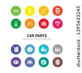 16 car parts vector icons set... | Shutterstock .eps vector #1395633245