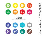 16 music vector icons set... | Shutterstock .eps vector #1395638282
