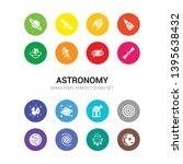 16 astronomy vector icons set...   Shutterstock .eps vector #1395638432