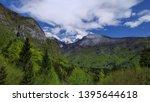 mountain view in voje valley ... | Shutterstock . vector #1395644618
