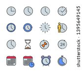 Vector Set Of Time Color Line...