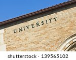 university sign on a building | Shutterstock . vector #139565102