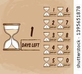 days left with sand timer... | Shutterstock .eps vector #1395651878