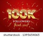 100k followers celebration... | Shutterstock .eps vector #1395654065